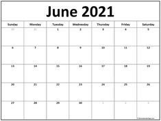 June 2021 calendar | free printable calendar templates June Calendar Printable, Blank Calendar Pages, Daily Calendar Template, July Calendar, Monthly Calendar Template, Monthly Calendars, Calendar 2020, Summer Calendar, Tricks