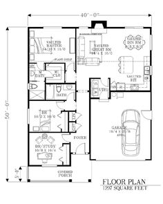 House Plan 46247 Level One