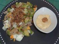 Salade d'avocat, œuf et poulet (1 personne)