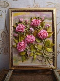 (4) Одноклассники Ribbon Art, Diy Ribbon, Ribbon Crafts, Diy Crafts, Handmade Flowers, Diy Flowers, Fabric Flowers, Paper Flowers, Silk Ribbon Embroidery