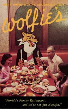 Wolfie's Restaurant - Sandwich Shop, Fort Lauderdale, Florida - I MISS IT!