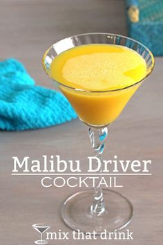 The Malibu Driver cocktail has just two ingredients: Malibu coconut rum and orange juice. The sweetness of the coconut balances the tartness of the orange juice, and you get a wonderful mellow flavor.
