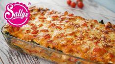 Lasagne mit Spinat und Lachs in Tomatenrahmsoße / Lieblingslasagne