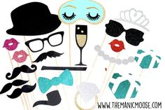 Fancy Photo Booth Prop Set Deluxe Edition 20 by TheManicMoose