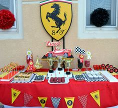 RACE CAR FERRARI Birthday Party Printable Package - with invitation included