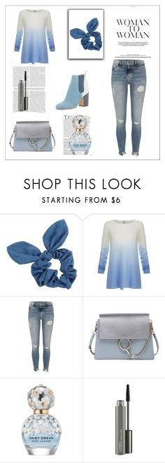 """""""blue story"""" by di-kah ❤ liked on Polyvore featuring Dorothy Perkins, Joie, River Island, Laurence Dacade, Chloé, Balmain, Marc Jacobs and MAC Cosmetics"""