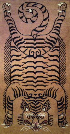 TIBETIAN TIGER CARPETS   Tibetan tiger rugs