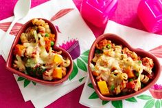 The kids will be begging for more once they've tasted this classic chicken and pumpkin pasta bake.