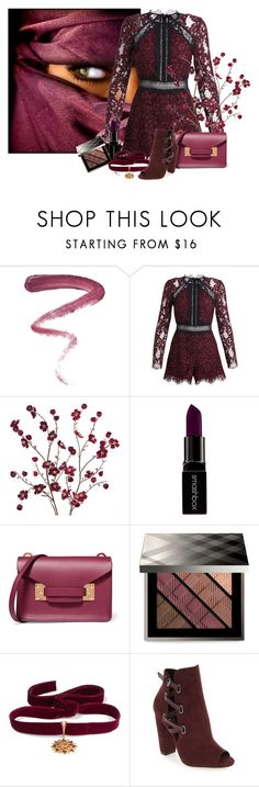 """suger PLUM fairy"" by kemp-jessica ❤ liked on Polyvore featuring Ellis Faas, Cost Plus World Market, Smashbox, Sophie Hulme, Burberry, Diego Percossi Papi and Daya"