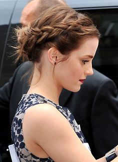 Emma Watson Braided Crown