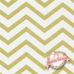 "Glitz 6321-GLIT Glitz By Michael Miller Fabrics: Glitz is a modern collection by Michael Miller Fabrics. 100% cotton. 43/44"" wide. This fabric features a thick chevron in off-white and a slightly thinner chevron in metallic gold."