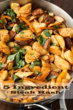 this steak hash is one of our favorites for a quick 5ingredient dinner! #getsmart ohsweetbasil