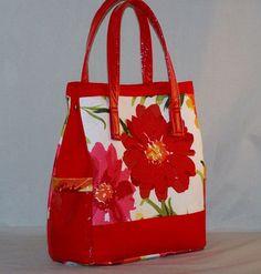 Red Tropical Explosion Handbag by LaCartera