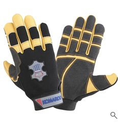Mechanic Gloves, Leather Industry, Safety Gloves, Leather Gloves, Cowhide Leather, Fingers, Palm, Closure, Spandex