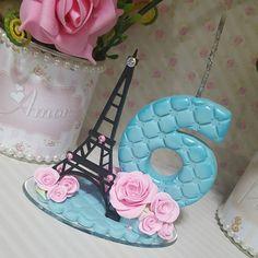 Vela Paris #biscuit #porcelanafria #artesanato #feitoamao #veladebiscuit #veladecorada #velaparis#festaparis #paris