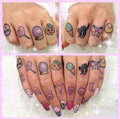 My baby knuckle tattoos!  Artist: Shannan meow ✨