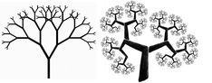 Fractal iterative shapes also reveal tree-like structures, which can take on an infinite variety of formations