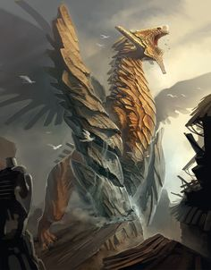 The dragon art of Eric Belisle Fantasy Monster, Monster Art, Monster Hunter, Creature Concept Art, Creature Design, Magical Creatures, Fantasy Creatures, Cool Dragons, Fantasy Beasts