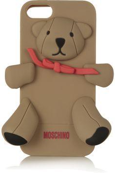 Funda para iPhone 5 Gennarino con forma de oso, de Moschino para Net-a-porter