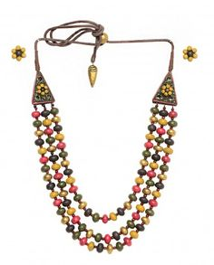 Multicolor Beaded Necklace Set