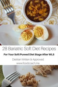 Diet Recipes Bariatric Surgery Patients - save this if you're having surgery soon! 28 creative recipes for the soft/pureed stage of the diet! - Bariatric and Pureed Recipes After Bariatric Surgery written by Dietitian Steph Wagner MS RDN Bariatric Eating, Bariatric Recipes, Bariatric Surgery, Ketogenic Recipes, Ketogenic Diet, Pcos Diet, Pureed Food Recipes, Diet Recipes, Atkins Recipes