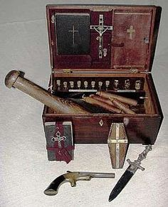 A vampire slaying kit sold at auction in Aberdeen Mississippi in '09.  But of course it had to be the Deep South where such things can be put to practical use.