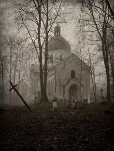 This lady's blog has such gorgeous pictures ....   Abandoned Church and Graveyard. Located in Oleszyce, Poland.   SPOOKY!