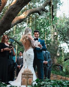 Celebrity wedding inspiration: BC Jean and Mark Ballas vintage boho chic outdoor wedding.