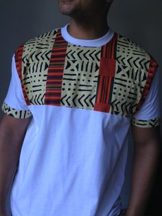 Items similar to Front Tribal Print Tshirt African Shirts For Men, African Dresses Men, African Attire For Men, African Wear, African Inspired Fashion, African Print Fashion, Fashion Prints, Camisa Tribal, Modern African Clothing
