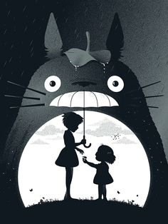 My Neighbor Totoro by Guillaume Morellec, via Behance