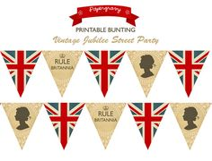 INSTANT DOWNLOAD Printable British Party por papergravystore