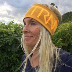 Mustard yellow & neon orange headband/pannebånd/panneband/pannband