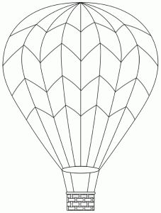 Hot Air Balloon Coloring Picture See More Dco De Porte Voyage Vers Limaginaire