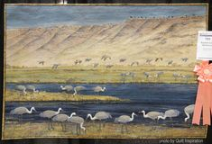"""Summer Lake Sandhills"" by Joanne Baeth (Oregon).  Best Wall Quilt.  2016 AQS QuiltWeek (Phoenix).  Photo by Quilt Inspiration."