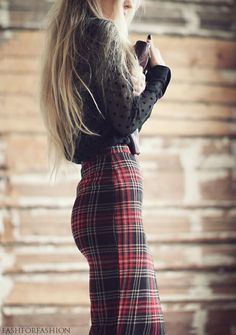 swiss dotted & plaid