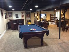Loft Like Basement, 800+ Square Feet   Painted Ceiling Flat Black, Created