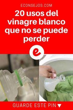 Vinagre blanco usos | 20 usos del vinagre blanco que no se puede perder | Más de 20 usos del vinagre blanco para el hogar, la salud y la cosmética.