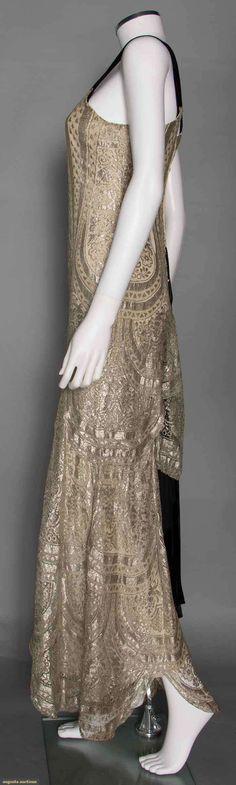 Metallic Jumpsuit w/ Bolero (image 3) | 1930s | lace, velvet | Augusta Auctions | November 12, 2014/Lot 310