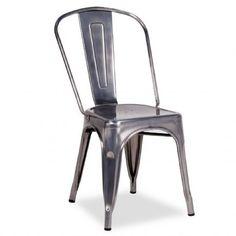 Silla TEREK -metal cepillado- 58,62€