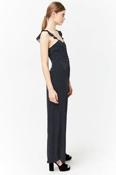 Polka Dot Palazzo Jumpsuit | Forever 21