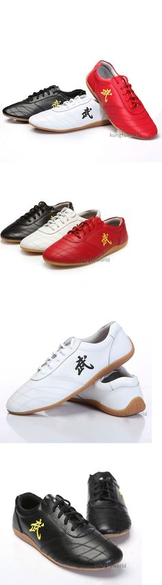 Shoes and Footwear 73989: Soft Cow Leather Kung Fu Tai Chi Shoes Martial Arts Wushu Sports Sneakers -> BUY IT NOW ONLY: $31.99 on eBay!