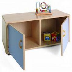 Mueble escolar superbajo armario 2 casillas