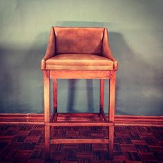 Brooke Bar Chair in Zimbabwean Teak and leather. Designed by and manufactured by Hudson Furniture, Bar Chairs, Teak, Collaboration, Studs, Furniture Design, Instagram Posts, Leather, Home Decor
