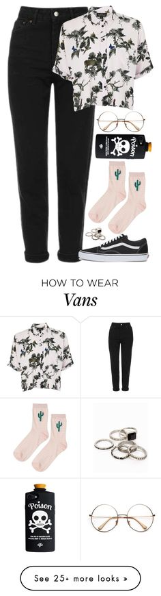 """Untitled #1079"" by zarryalmighty on Polyvore featuring Topshop, Vans and JFR"