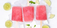 These super simple watermelon popsicles are incredibly easy to make and are a great way to put that leftover melon to delicious use. Get the recipe. Watermelon Popsicles, Healthy Popsicles, Beachbody Blog, Popsicle Recipes, Healthy Treats, Healthy Eating, Health And Nutrition, Nutella, Delicious Desserts