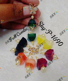 Gold Earrings Designs, Gold Jewellery Design, Necklace Designs, Gold Jewelry, Beaded Jewelry, Jewelery, Baby Earrings, Bridal Earrings, Peridot Jewelry