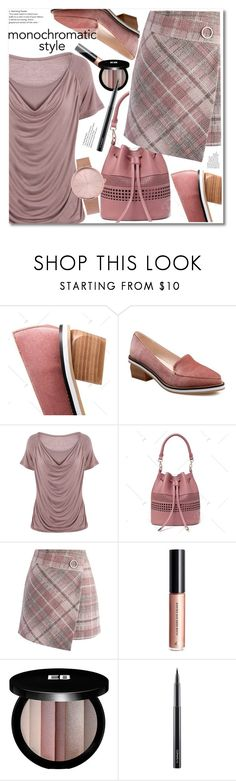 """""""monohromatic"""" by fshionme ❤ liked on Polyvore featuring Chicwish, Edward Bess, MAC Cosmetics and monochrome"""