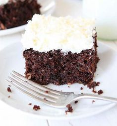 Healthy Desserts: Chocolate Zucchini Coconut Cake