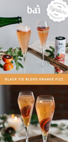 You'll need to suit up for this sip because our Blood Orange Champagne Cocktail brings bubbly flavor to any black tie wedding. Must be 21+. Please drink responsibly.