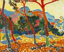 Fauve, totally obsessed with everything  Andre' Derain - the 'Daddy of Fauve'